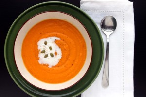orange carrot soup recipe holistic nutrition toronto